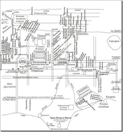 Схема посёлка Драгоценка